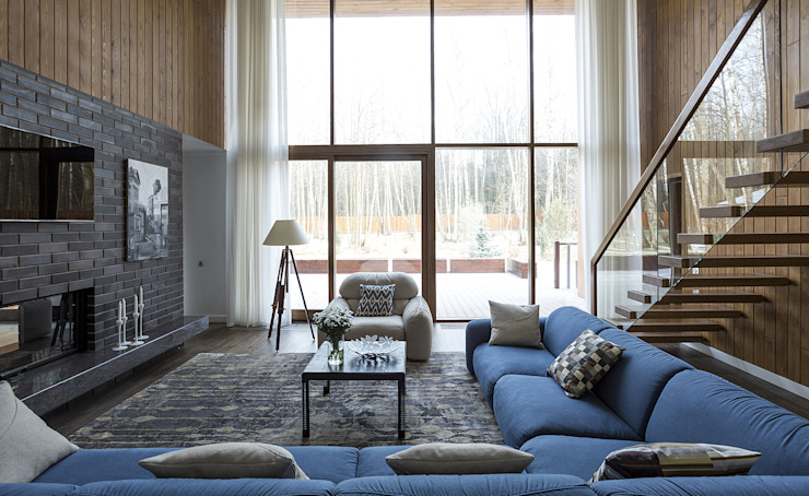 Scandinavian style living room by ALEXANDER ZHIDKOV ARCHITECT Scandinavian