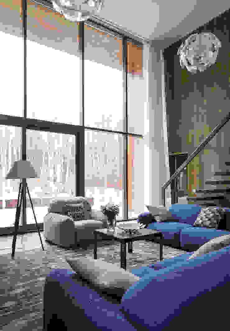 Scandinavian style living room by ALEXANDER ZHIDKOV ARCHITECT Scandinavian