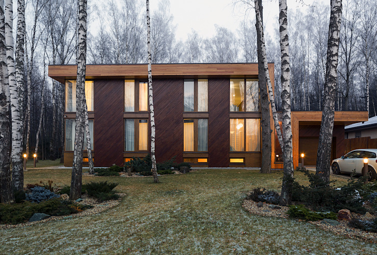 Scandinavian style houses by ALEXANDER ZHIDKOV ARCHITECT Scandinavian