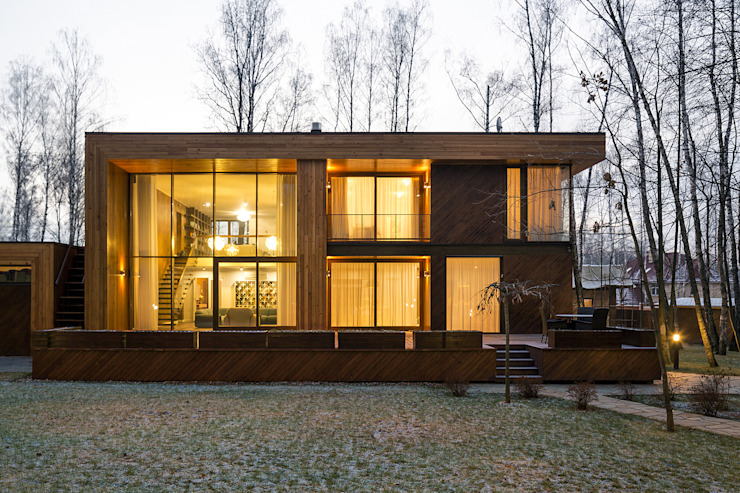 Case in stile scandinavo di ALEXANDER ZHIDKOV ARCHITECT Scandinavo