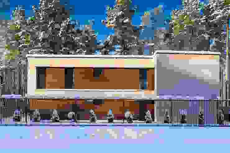 Дом в загородном поселке «Охтинский парк»:  в . Автор – ALEXANDER ZHIDKOV ARCHITECT,