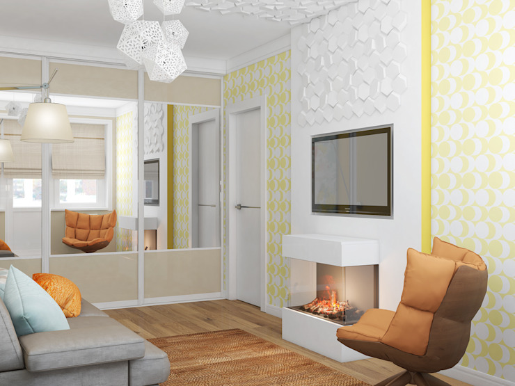 Гостиная Гостиная в стиле минимализм от Анпилогова Татьяна Минимализм