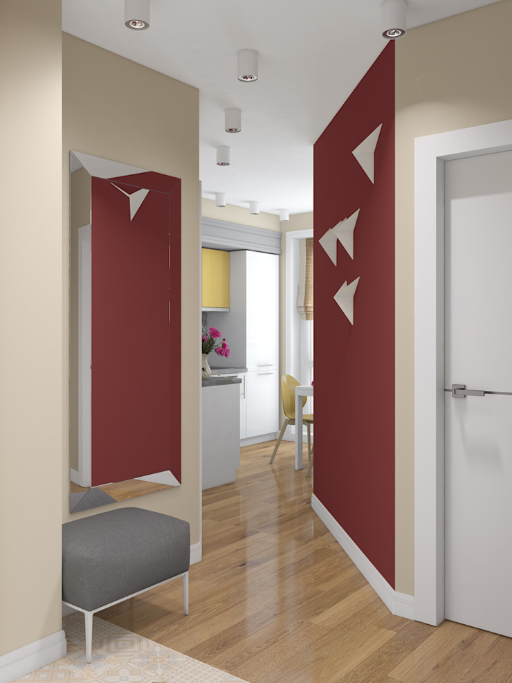 Прихожая Коридор, прихожая и лестница в стиле минимализм от Анпилогова Татьяна Минимализм