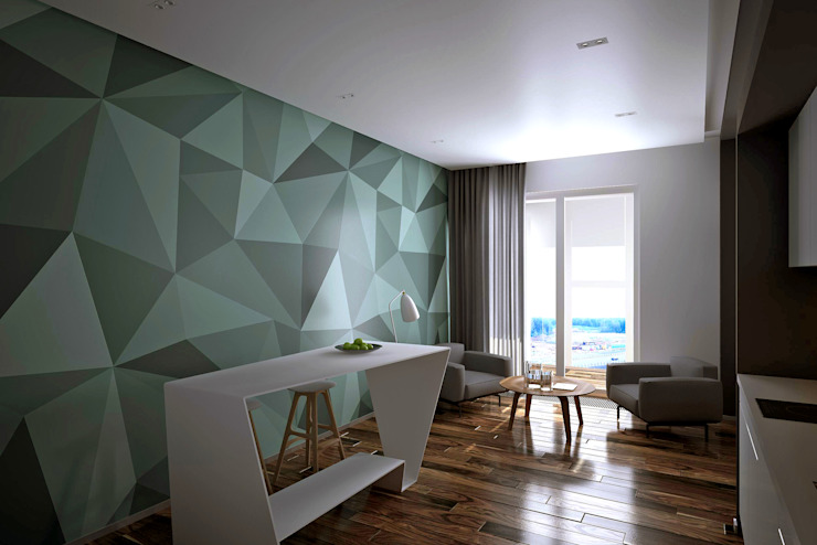 Квартира в ЖК Ромашково Гостиная в стиле минимализм от lab21studio Минимализм
