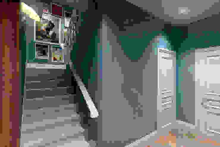 Лестница Коридор, прихожая и лестница в эклектичном стиле от lab21studio Эклектичный