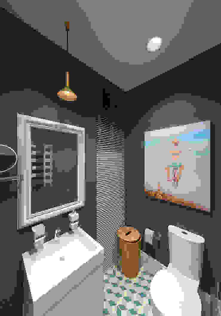 Гостевой санузел Ванная комната в эклектичном стиле от lab21studio Эклектичный
