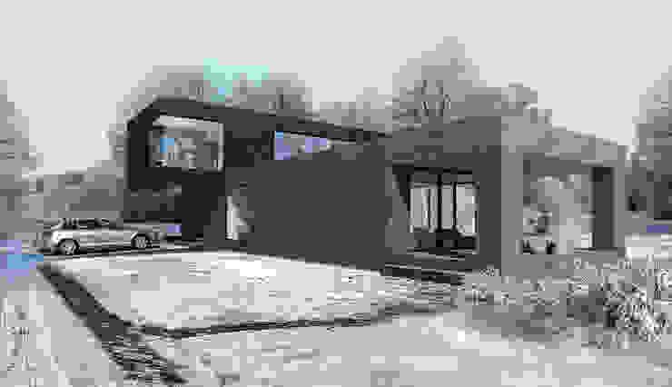 Hammer House Дома в стиле минимализм от ALEXANDER ZHIDKOV ARCHITECT Минимализм