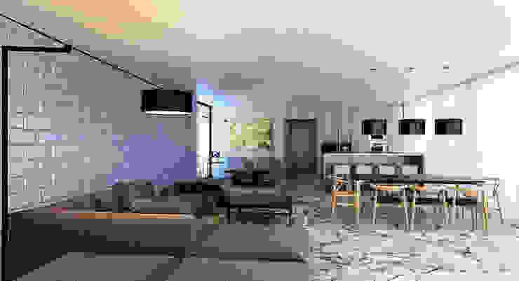 Hammer House Гостиная в стиле минимализм от ALEXANDER ZHIDKOV ARCHITECT Минимализм