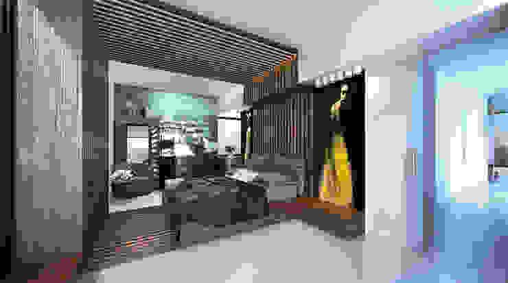 Hammer House Спальня в стиле минимализм от ALEXANDER ZHIDKOV ARCHITECT Минимализм