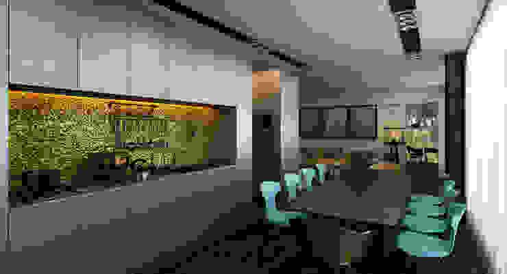 Дом-аквариум Кухня в стиле лофт от ALEXANDER ZHIDKOV ARCHITECT Лофт