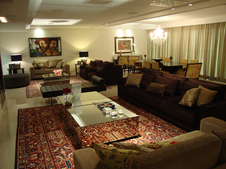Sala de multiplo uso Salas de estar modernas por Geraldo Brognoli Ludwich Arquitetura Moderno