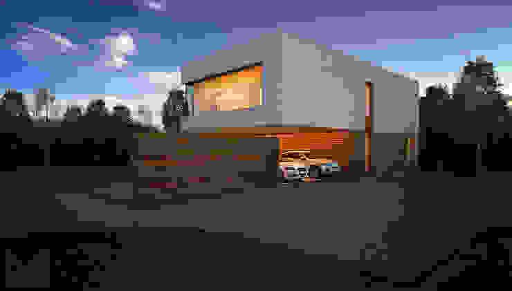 Дом в Ленинградской области Дома в стиле минимализм от ALEXANDER ZHIDKOV ARCHITECT Минимализм