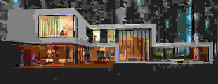 Дом в поселке Брюховичи Дома в стиле минимализм от ALEXANDER ZHIDKOV ARCHITECT Минимализм