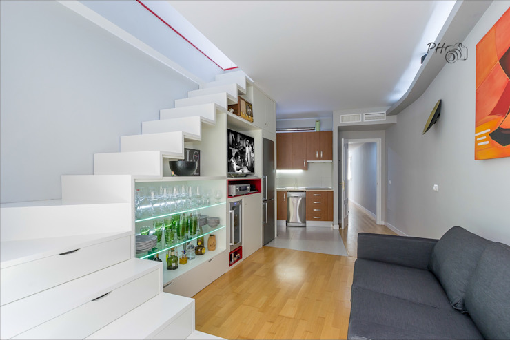 Living area with open kitchen Soggiorno moderno di Per Hansen Moderno