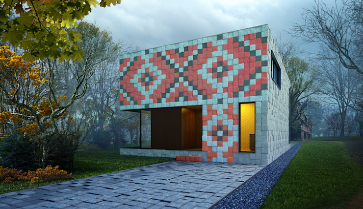 Casas minimalistas por ALEXANDER ZHIDKOV ARCHITECT Minimalista