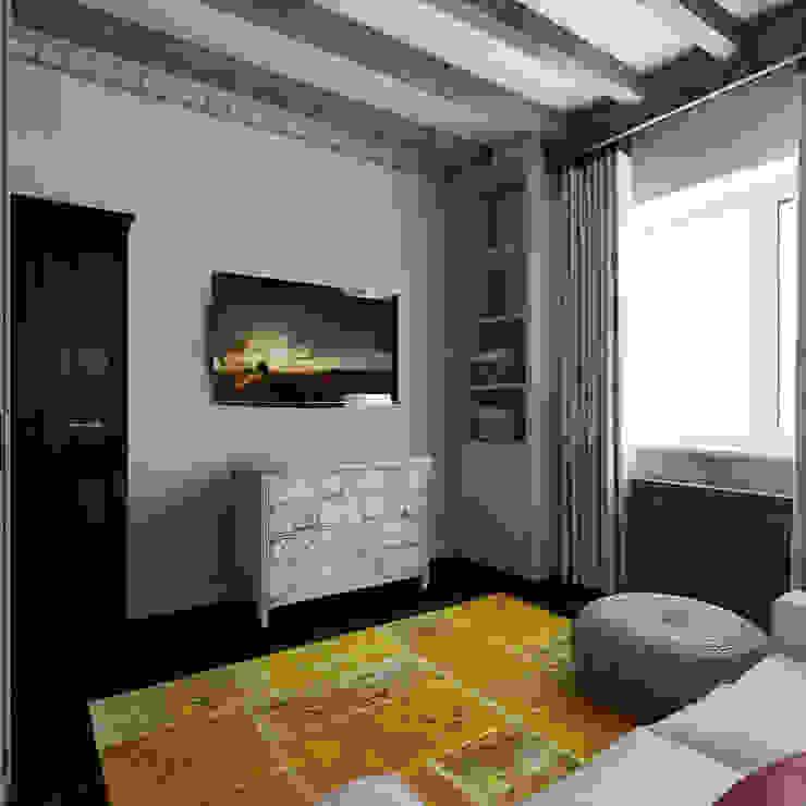 Гостевая в испанском домике Спальня в колониальном стиле от Частный дизайнер и декоратор Девятайкина Софья Колониальный
