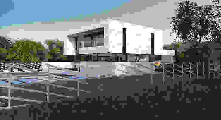single-family dwelling house Дома в стиле минимализм от ALEXANDER ZHIDKOV ARCHITECT Минимализм