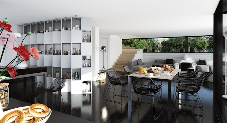 single-family dwelling house Кухня в стиле минимализм от ALEXANDER ZHIDKOV ARCHITECT Минимализм