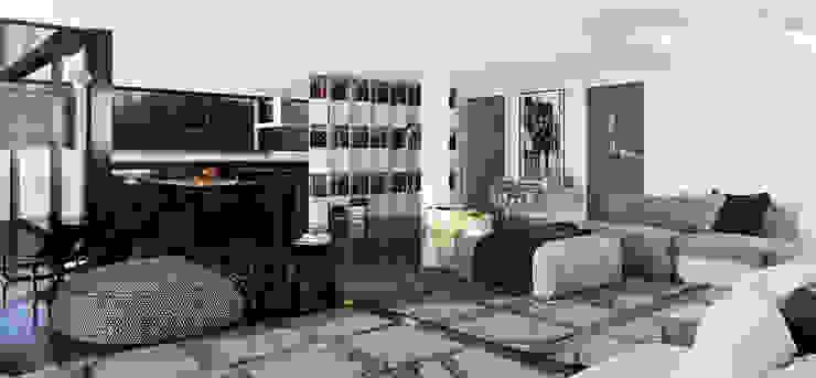 single-family dwelling house Гостиная в стиле минимализм от ALEXANDER ZHIDKOV ARCHITECT Минимализм