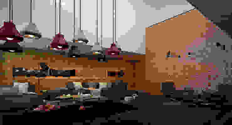 Living room by ALEXANDER ZHIDKOV ARCHITECT,