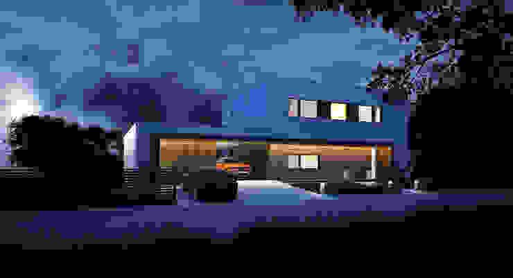 ДОМ В ПОСЕЛКЕ ЛАЗУРНОЕ Дома в стиле минимализм от ALEXANDER ZHIDKOV ARCHITECT Минимализм