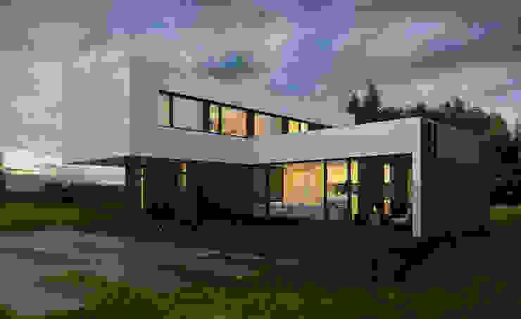 ДОМ В ПОДМОСКОВЬЕ Дома в стиле минимализм от ALEXANDER ZHIDKOV ARCHITECT Минимализм