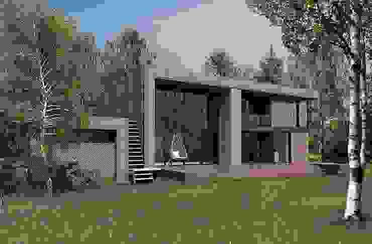ДОМ В ПОСЕЛКЕ ПОЛИВАНОВО (визуализация) Дома в скандинавском стиле от ALEXANDER ZHIDKOV ARCHITECT Скандинавский