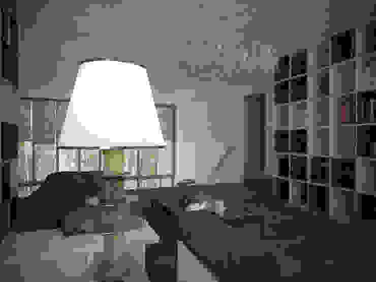ДОМ В ПОСЕЛКЕ ПОЛИВАНОВО (визуализация) Медиа комната в скандинавском стиле от ALEXANDER ZHIDKOV ARCHITECT Скандинавский