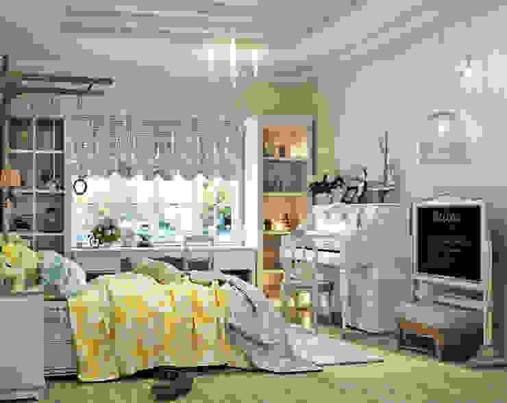 Прованс для детской: три варианта Детская комнатa в классическом стиле от Студия дизайна Interior Design IDEAS Классический