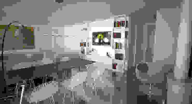 ДОМ В СОЧИ Гостиная в стиле минимализм от ALEXANDER ZHIDKOV ARCHITECT Минимализм