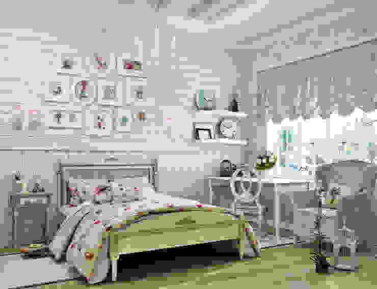 Прованс для детской: три варианта: Детские комнаты в . Автор – Студия дизайна Interior Design IDEAS,