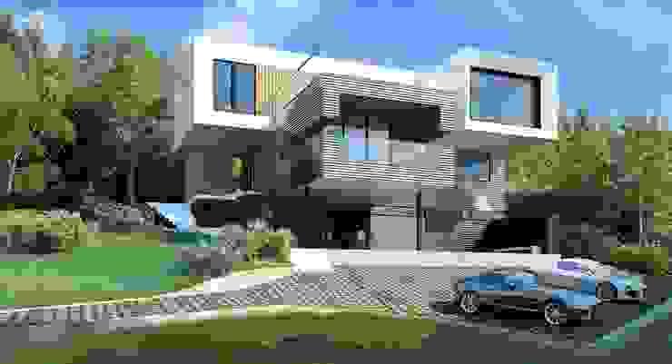 Дом в Масандре Дома в стиле минимализм от ALEXANDER ZHIDKOV ARCHITECT Минимализм