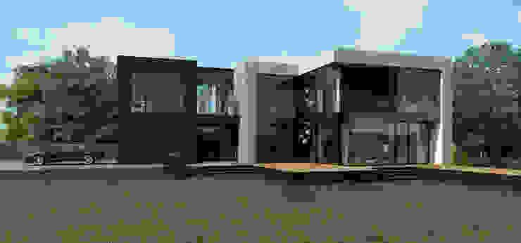 ДОМ ПОД ПАВЛОВСКОМ Дома в стиле минимализм от ALEXANDER ZHIDKOV ARCHITECT Минимализм
