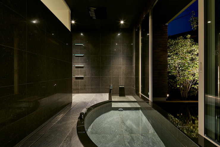 浴室 モダンスタイルの お風呂 の Mアーキテクツ|高級邸宅 豪邸 注文住宅 別荘建築 LUXURY HOUSES | M-architects モダン