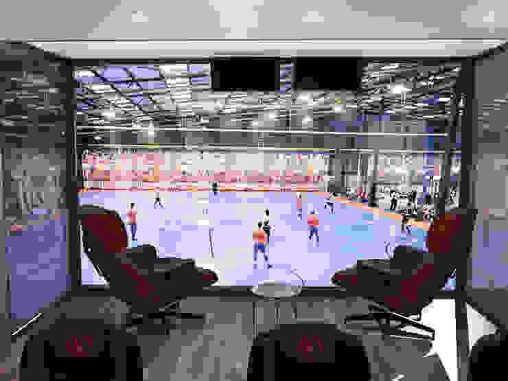 Дизайн кабинета <q>МФК Кайрат</q> Стадионы в стиле минимализм от AIR Design Минимализм