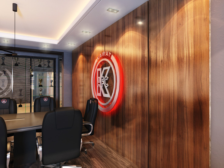 Дизайн кабинета <q>МФК Кайрат</q> от AIR Design Минимализм