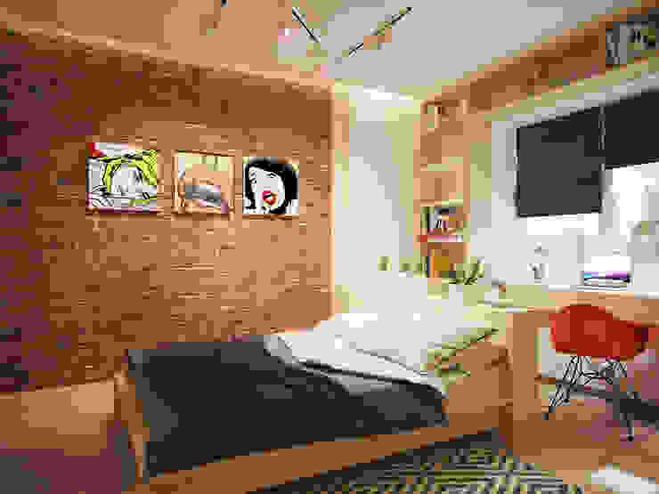 インダストリアルスタイルの 寝室 の Polovets design studio インダストリアル