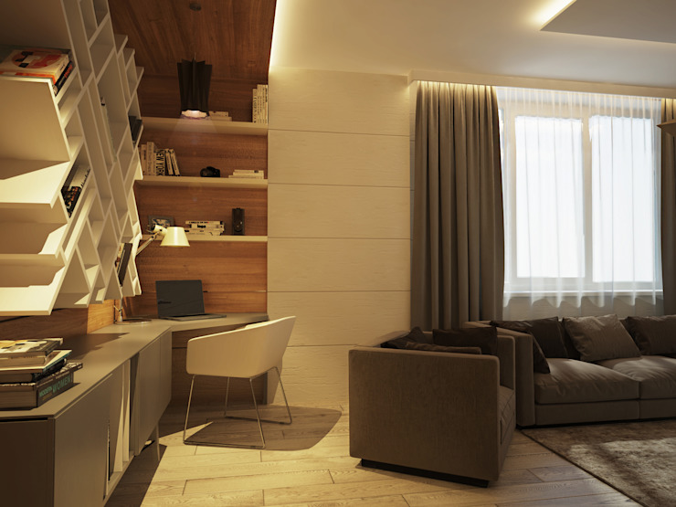 Minimalist living room by Polovets design studio Minimalist