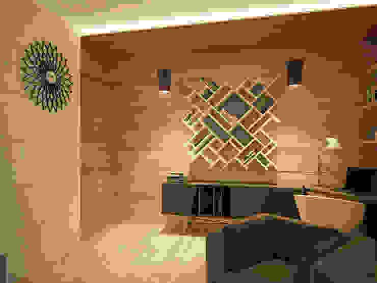 Квартира в современном минимализме Гостиная в стиле минимализм от Polovets design studio Минимализм