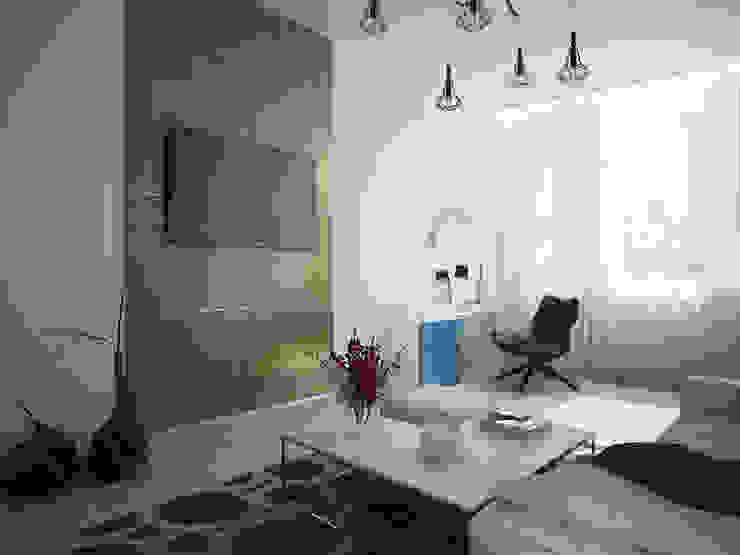 Minimalist bedroom by Polovets design studio Minimalist