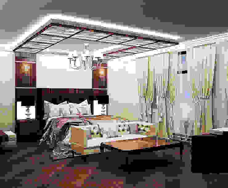 Спальни Спальня в эклектичном стиле от ООО ПрофЭксклюзив Студия дизайна интерьеров Эклектичный