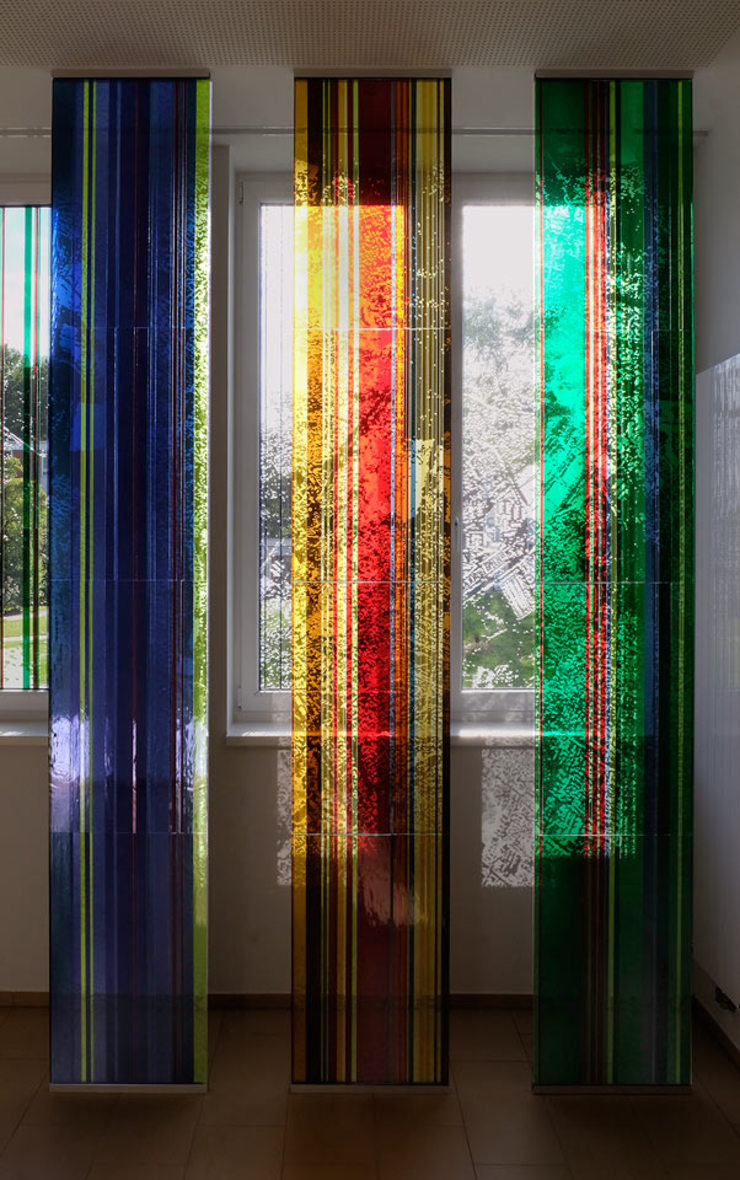 Glasgestaltung in der Architektur Hospitals
