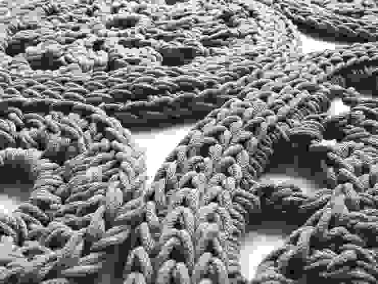 Ręcznie wykonany, dziergany dywan model WIEN materiał bawełna, kolor 13 od RENATA NEKRASZ art & design Skandynawski