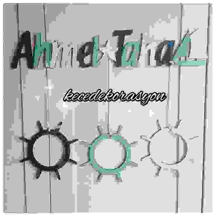 Yeni Doğan Yelkenli Yeşil Lacivert Beyaz ec ev dekorasyon Akdeniz