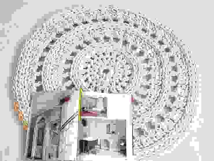 Ręcznie wykonany, dziergany dywan model VENICE od RENATA NEKRASZ art & design Skandynawski