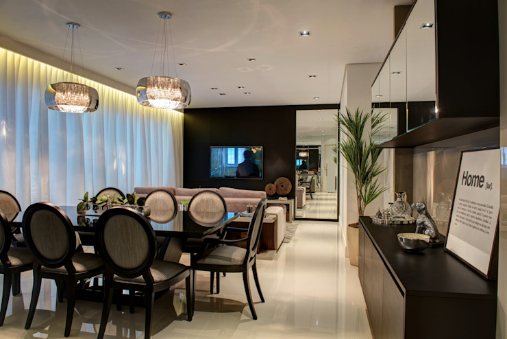 Salas Integradas Salas de jantar modernas por Renato Lincoln - Studio de Arquitetura Moderno