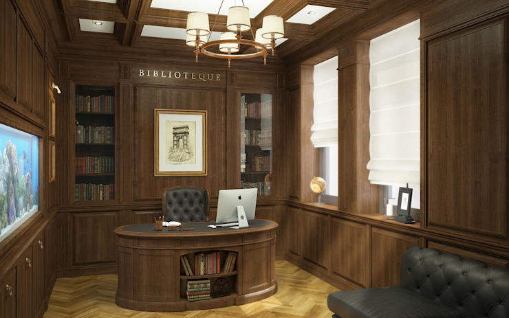Classic style study/office by studio forma Classic