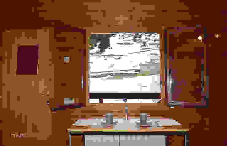 Home Staging Andorra_vistas desde salón Comedores de estilo rural de muxo Studio Rural