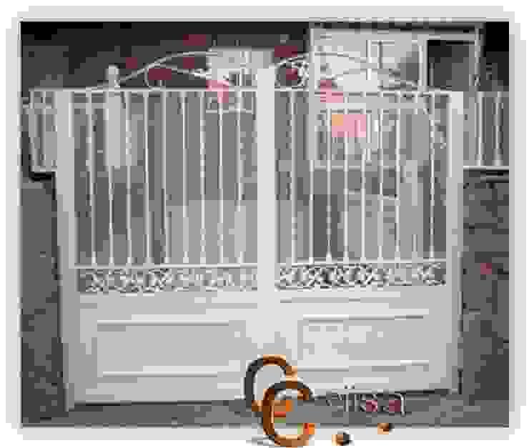 Puerta de forja Moderna Puertas y ventanas de estilo clásico de Cerrajeria cejisa Clásico