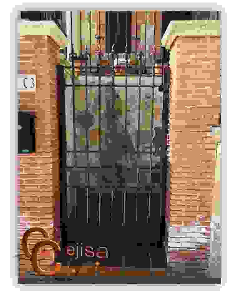 Puerta en Forja Moderna. Puertas y ventanas de estilo clásico de Cerrajeria cejisa Clásico